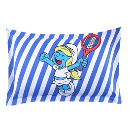Smurfette with Tennis Blue and White Stripes One Piece Bed Pillowcase