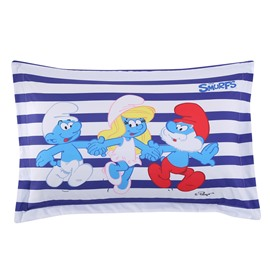The Smurfs Hands in Hands Printed One Piece Bed Pillowcase