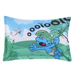 Smurf in Wild Jungle and Dragonfly One Piece Bed Pillowcase