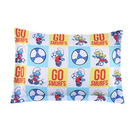 Football Smurfs and Smurfette One Piece Bed Pillowcase