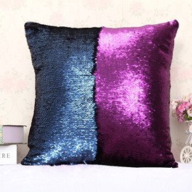 Purple and Deep Blue Color Changing Reversible Sequins 2-Piece Mermaid Pillowcases