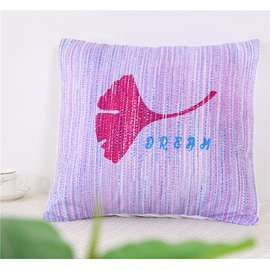 Red Ginkgo Leaf Decorative Square Polyester One Piece Throw Pillowcase