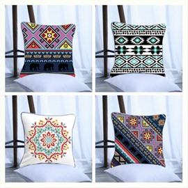 Bohemia Pattern Polyester One Piece Decorative Square Throw Pillowcase