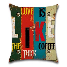 Color Block Pattern Linen Material Indoor Occasion Pillow Case
