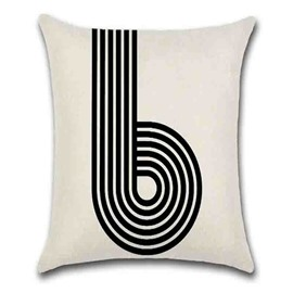 Linen Material Adult Group Modern Style Indoor Occasion Number Pattern Pillow Case
