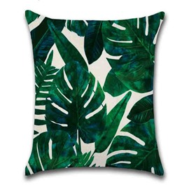 Hand Wash Modern Style Plant Pattern Linen Material Pillow Case