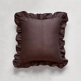 Polyester Material Cushion Type Stitching Technics Hand Wash Cleaning Throw Pillow Case