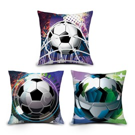 3D Vivid Soccer Digital Printing Throw Pillow Case