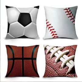 3D Soccer and Baseball Design Digital Printing Throw Pillow Case