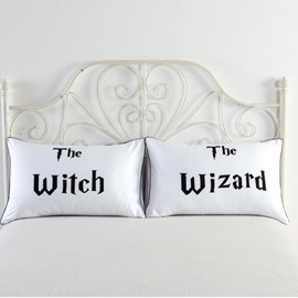 The Witch & The Wizard Printed Valentine's One Pair of Pillowcases