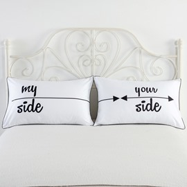 One Pair My Side & Your Side Printed Valentine's Gifts Pillowcases