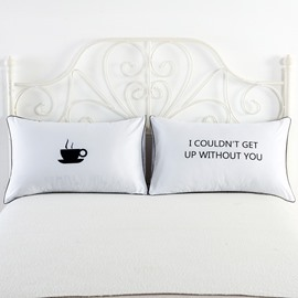 Black Coffee and Without You Printed Couple Pillowcases