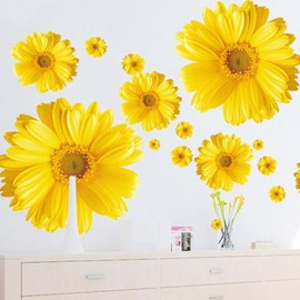 Lovely Daisy Flowers Print Home Decorative Wall Stickers