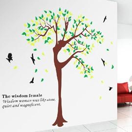 New Arrival Beautiful Wisdom Female Tree Print Wall Stickers