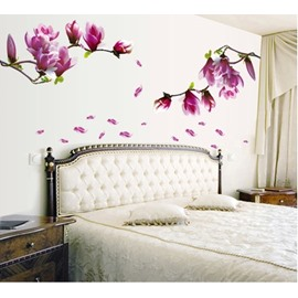 Fancy and Lovely Mangnolia Pattern Wall Stickers