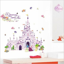 Fantastic Castle and Amazing Pincess Wall Stickers