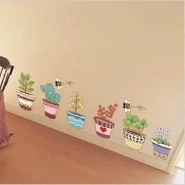 New Arrival Beautiful Flower Nursery Wall Stickers