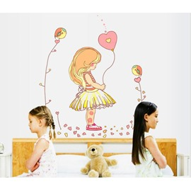 New Arrival Fairy Tale Girl Print Wall Stickers