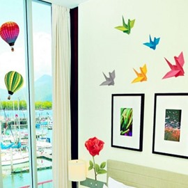 New Arrival Sweet Paper Crane Wall Stickers