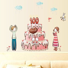 New Arrival Fantastic Birthday Cake Wall Stickers