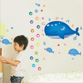 New Arrival Fancy Undersea Whale Wall Stickers
