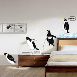 Amazing Cute Flying Penguin Pattern Decorative Wall Stickers