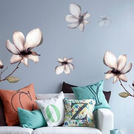 Pretty Simple Modern Flowers Removable Wall Stickers