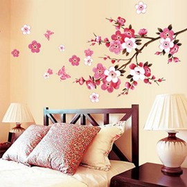 Beautiful Romantic Peach Blossom Home Decorative Wall Stickers