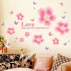 Top Classic Romantic Cinderella Flower Wall Stickers