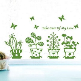 Top Quality Beautiful Garden Wall Stickers