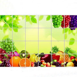 Pretty Fresh Fruits Kitchen Hearth Removable Wall Stickers