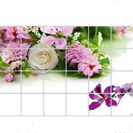 Variety Flowers Kitchen Hearth Removable Wall Stickers