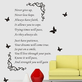 Famous Quote Living Room PVC Waterproof TV Background Wall Stickers