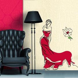 Gorgeous Graceful Lady Wall Sticker