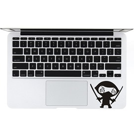 Amusing Masked Ninja in Swords Laptop Sticker