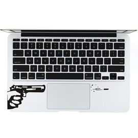Creative Gun Firing Bullets Laptop Touch Panel Sticker