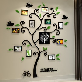 Fantastic Family Tree Pattern Photo Frame 3D Wall Sticker