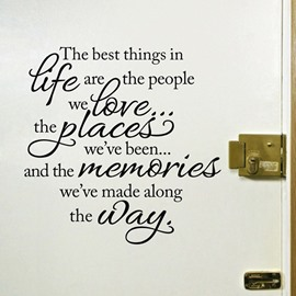 24*26in Black Life Revelation Words Removable PVC Waterproof Eco-friendly Wall Stickers