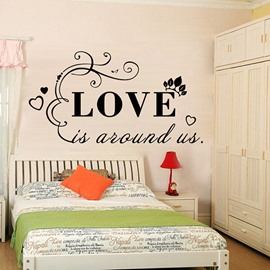 Words and Quotes Love is Around Us Removable Wall Sticker