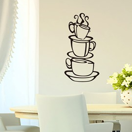 Dining Room Cafe Coffee Cups Removable Wall Stickers