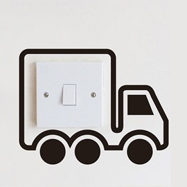 Creative Little Truck Light Switch Removable Wall Sticker