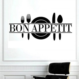 Words Kitchen Dining Room Bon Appetit Removable Wall Stickerr