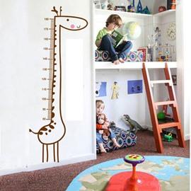 Lovely Nursery Long Giraffe Growth Charter Removable Wall Sticker