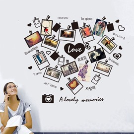 I love You Heart-Felt Love Wall Photo Frame Removable Wall Sticker