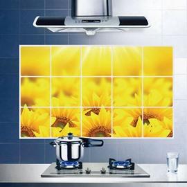 Wonderful Sunflower Kitchen Hearth Removable Wall Sticker