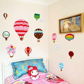 Cartoon Hot-Air Balloons Nursery Kidsroom Removable Wall Sticker