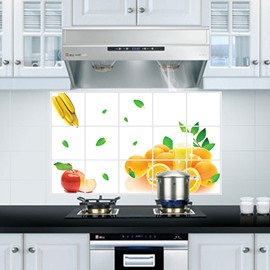 Simple Fresh Fruit Orange Pattern Kitchen Hearth Removable Wall Sticker