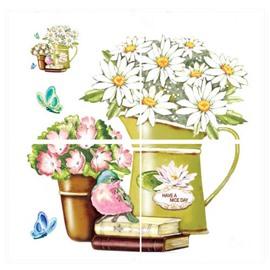 Wonderful Flower Pattern Kitchen Bathroom Tile Removable Wall Sticker