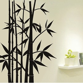 Creative Black Bamboo Forest Removable Wall Sticker