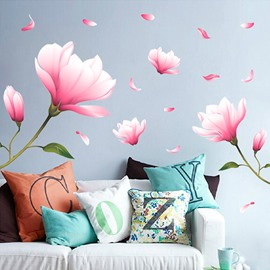 Romantic Flower Pattern Bedroom Living Room Removable Wall Stickers